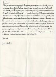 Joseph Franklin's first letter