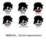 Mason facial expressions