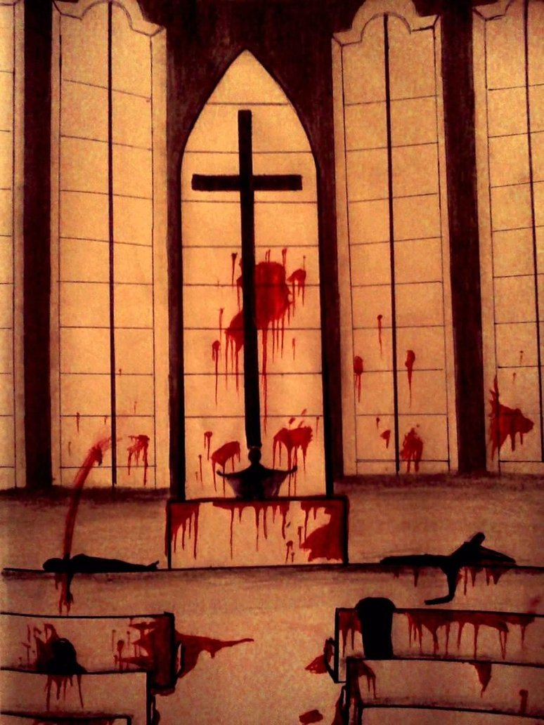 Bloody church by witchma-d4h5csc