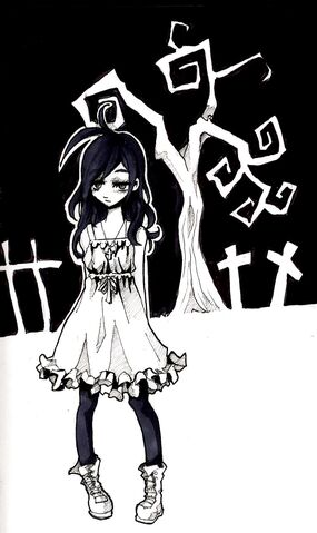 File:Cute little goth girl by jump button.jpg