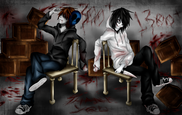 Datei:Eyeless jack and jeff the killer thank you by ren ryuki-d6iuujd.png