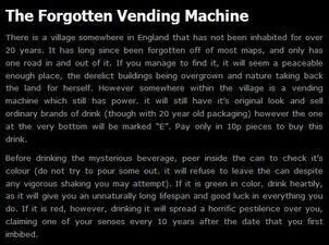 Forgotten Vending Machine