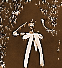 Antique wood carving of the being known as Viennese Ghost
