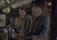 A young Lewis with Morse in a pub in Last Seen Wearing