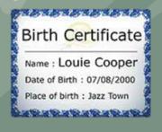 Louiebirthcertificate