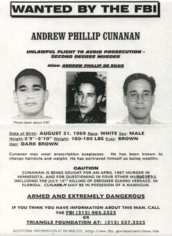 Wanted Andrew Cunanan