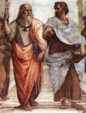 Arquivo:Sanzio 01 Plato Aristotle.jpg