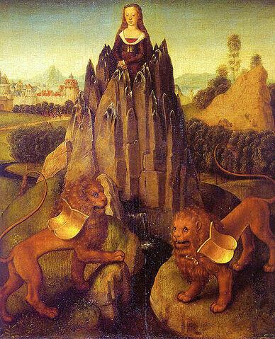 Arquivo:Hans-Memling-allegory-chastity.jpg