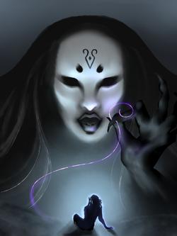 """""""Image of Raven Queen.""""}}"""