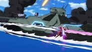 Cross Ange ep 13 Villkiss Michael Mode destroys Naval Vessels