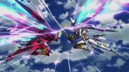 Cross Ange ep 11 Villkiss and Enryugo