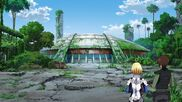 Cross Ange ep 14 Ange and Tusk in Capital City Shelter