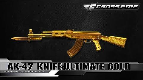 CrossFire China AK-47 Knife-Ultimate Gold ☆