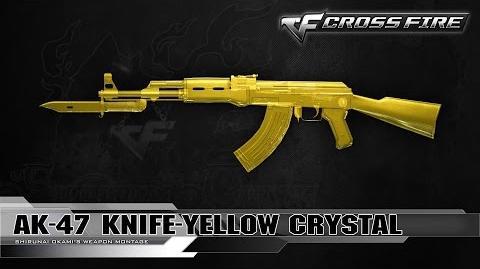 CrossFire Japan AK-47 Knife-Yellow Crystal ☆