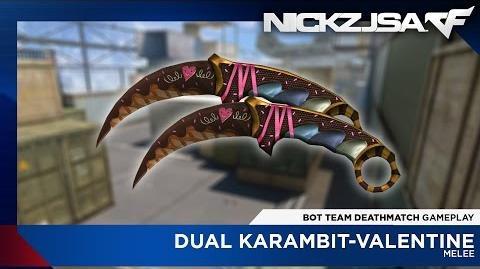 Dual Karambit-Valentine CROSSFIRE China 2