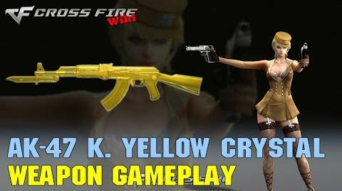 CrossFire - AK-47 Knife Yellow Crystal - Weapon Gameplay