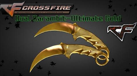 CrossFire Vietnam 2.0 - Dual Karambit-Ultimate Gold -Review- (~˘▾˘)~ -60FPS