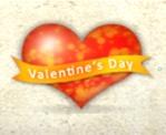 Valentines spray heart