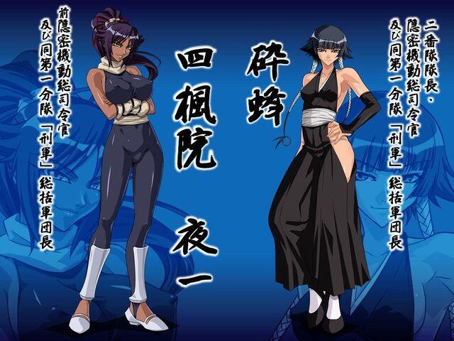 File:Body suit yoruichi with captai soifon.jpg