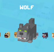 Wolf in mascot selection screen