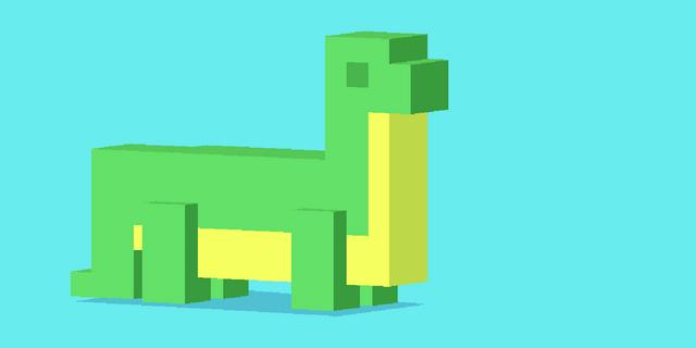 File:Blocky Dinosaur.png