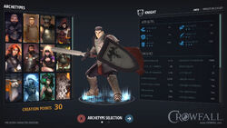 Crowfall CharacterCreate preview