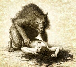 Werewolf and victim