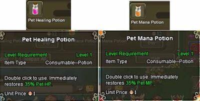 Pet Potions