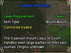 Lotus of doom stats
