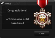 Afc commander ingame obtain
