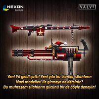Mg3 minigun xmas turkey poster