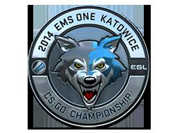 Sticker-katowice-2014-esl-wolf-Foil
