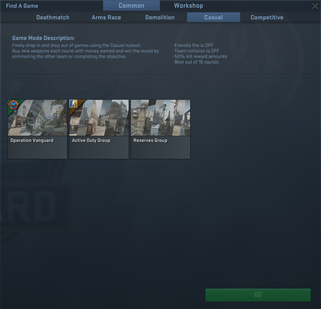 cs go matchmaking select region