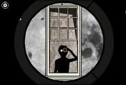 Roots masks binoculars moon