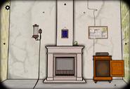 Seasons winter fireplace