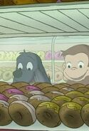 Charkie and George in Donut Shop
