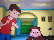 Steve & George With Their Cartoon Teeth