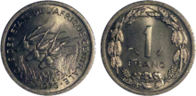 Central Africa 1 franc 1976