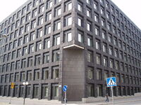 Sveriges Riksbanks huvudkontor vid Brunkebergstorg