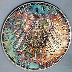 German Empire 3 mark 1913