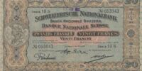 Swiss 20 franc banknote