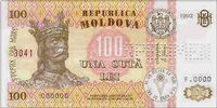 Moldovan 100 leu banknote