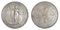 British 1 trade dollar coin