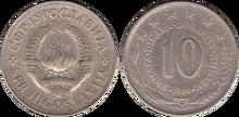 Yugoslavia 10 dinara 1980