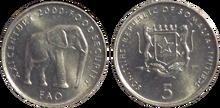 Somali 5 shillings 2000