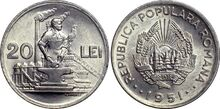Romanian 20 lei 1951