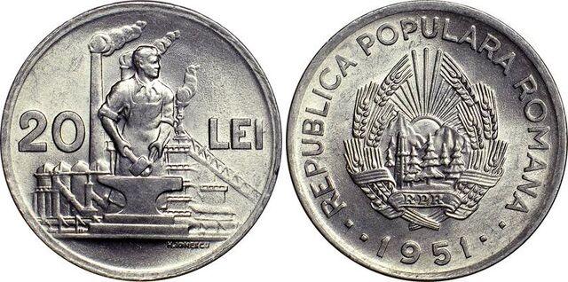 File:Romanian 20 lei 1951.jpg