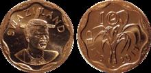 Swaziland 10 cents 2011