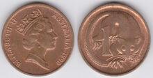Australia 1 cent 1990