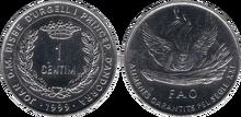 Andorra 1 centim 1999 FAO